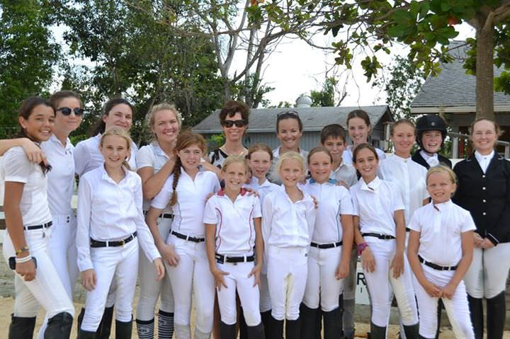 Cindy Thaxton and riders at National Dressage Show - Nov 2014